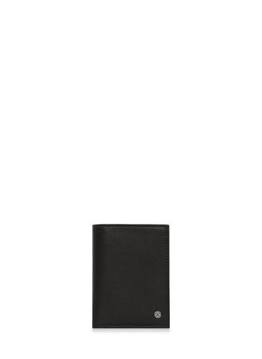 Cengiz Pakel 13695 Deri Renk Küçük Boy Erkek Cüzdan Siyah